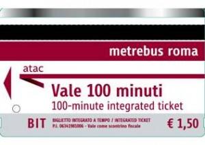 Metrebus biglietto 100 minuti - Путеводитель по римскому транспорту