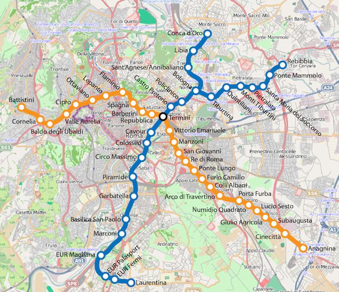 Roma metro 2012 - Путеводитель по римскому транспорту