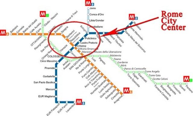 mappa metro roma 497x300 - Путеводитель по римскому транспорту