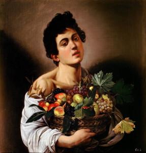 Boy with a Basket of Fruit Caravaggio 1593 287x300 - Boy_with_a_Basket_of_Fruit-Caravaggio_(1593)