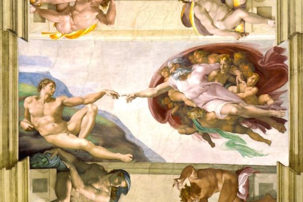 Michelangelo   Creation of Adam copia 600x400 - Ватикан для жаворонков