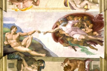 Michelangelo   Creation of Adam 1 e1538405632296 444x297 - Sognare Roma - Мечтать о Риме. Необычные экскурсии по Риму и окрестностям.