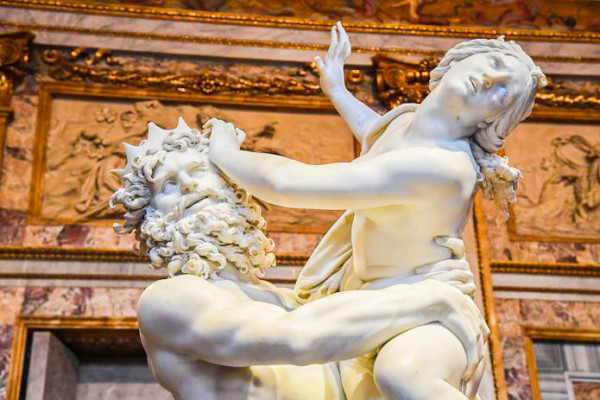 The sculpture entitled ?The Rape of Proserpina? by Gian Lorenzo Bernini on display at the ?Bernini? exhibition at Galleria Borghese in Rome, Italy, 30 October 2017. The show opens to the public from 01 November 2017 to 4 February 2018. ANSA/ALESSANDRO DI MEO